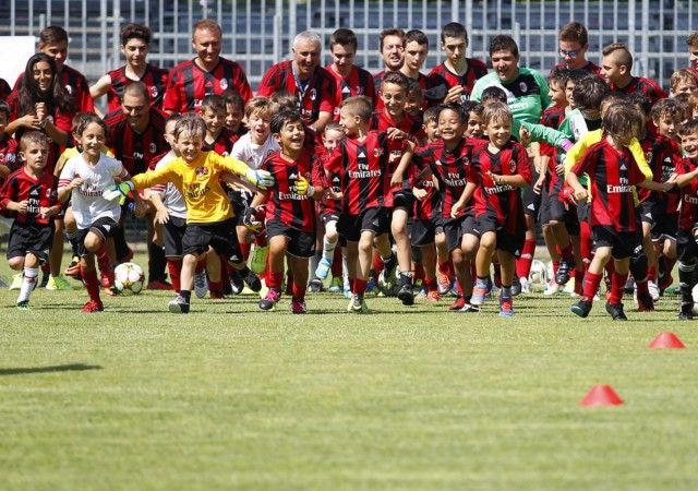 "Foto LaPresse - Spada 07 Luglio 2017 -  Centro Sportivo""M. Casadei""  Milano - Cimiano (Italia) -  Milan Junior Camp Sport Calcio Nella foto:  Milan Junior Camp  Photo LaPresse - Spada July 07, 2017 Centro Sportivo""M. Casadei""  Milano - Cimiano (Italia) Sport Soccer Milan Junior Camp In the pic: Milan Junior Camp"