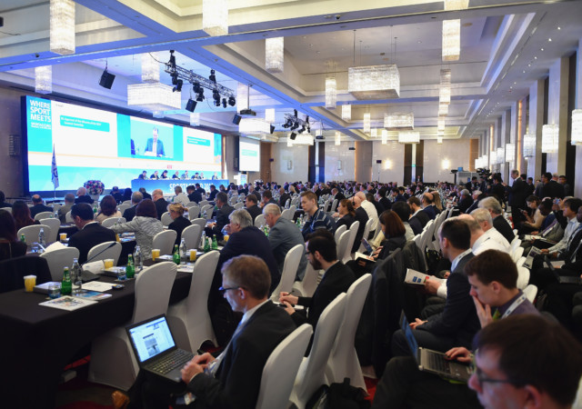 BANGKOK, THAILAND - APRIL 20:  A general view during the GAISF General Assembly on day six of the SportAccord at Centara Grand & Bangkok Convention Centre on April 20, 2018 in Bangkok, Thailand.  (Photo by Thananuwat Srirasant/Getty Images)